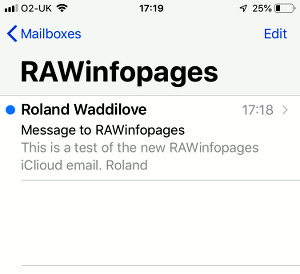 Using an iCloud email alias in the Mail app on the iPhone