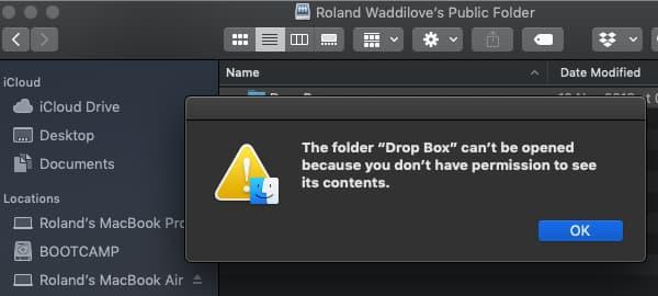 Apple Mac file sharing permission problems