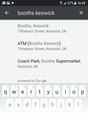 Choose a location for a reminder in Google Keep on Android