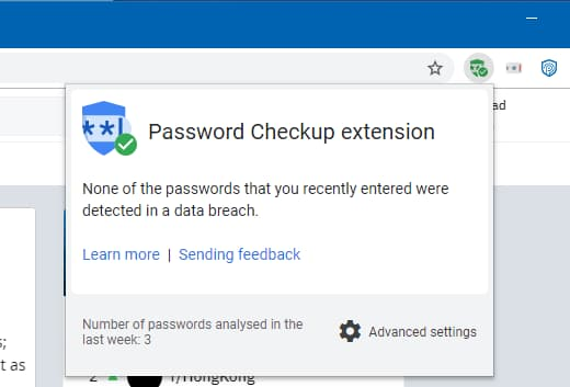 Password Checkup Chrome extension warns if a password you use has been compromised