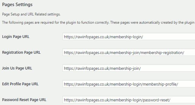 Simple Membership WordPress plugin showing the member pages