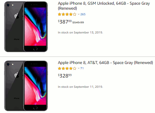 Amazon renewed iPhones