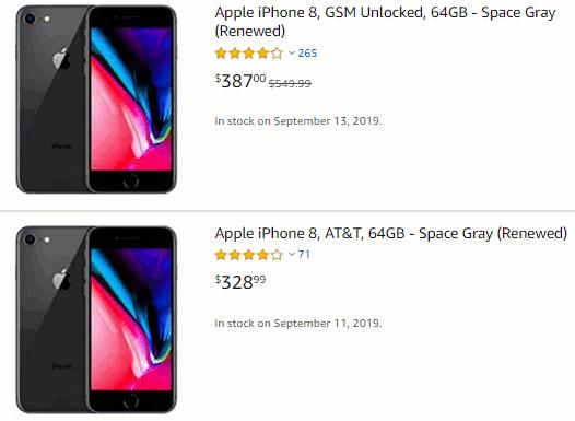 Amazon renewed iPhones