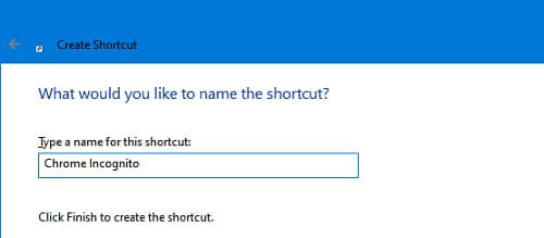 Create a desktop shortcut to run Chrome in Windows