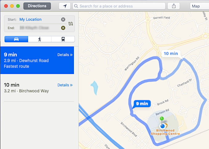 Get directions for lost Apple devices in the Maps app in macOS