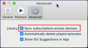 Sync podcasts between the Apple Mac and an iPhone or iPad