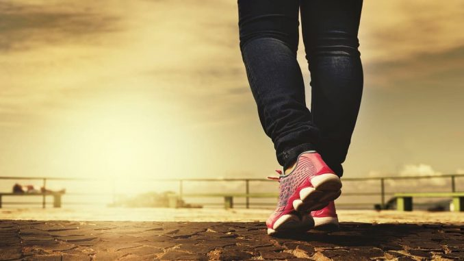 Walking helps to keep you fit and lose weight