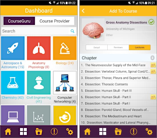 CourseGuru Android app: Free online courses