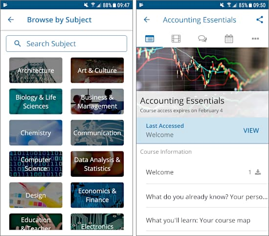 edX app for Android: Free online courses