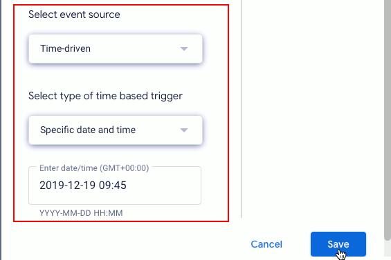 Google Sheets script triggers