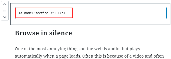 Insert an HTML block into a WordPress post