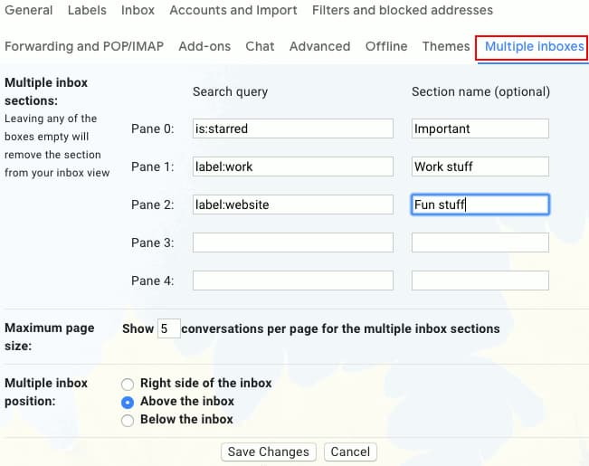 Configure multiple inboxes in Gmail