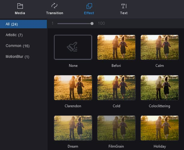 MiniTool MovieMaker effects for videos