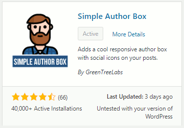 Simple Author Box plugin for WordPress websites