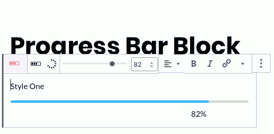 Ultimate Blocks progress indicator for WordPress Gutenberg editor
