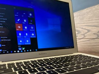 Apple MacBook running Windows 10
