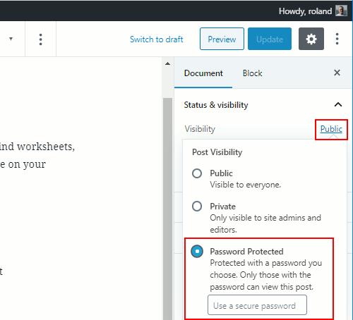 Password protect posts in WordPress