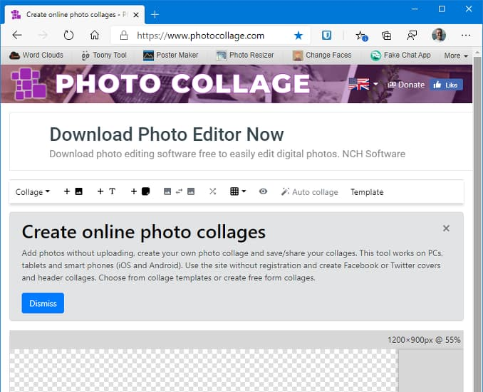 The Photo Collage website