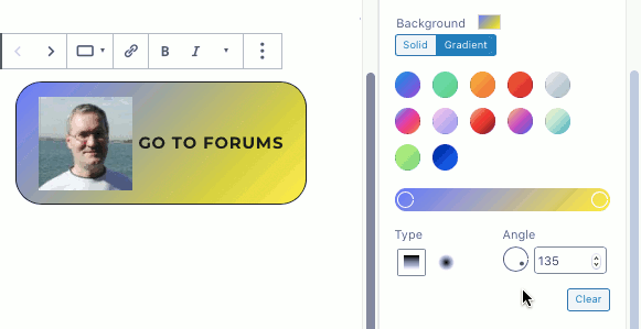 Use a gradient fill with buttons in WordPress