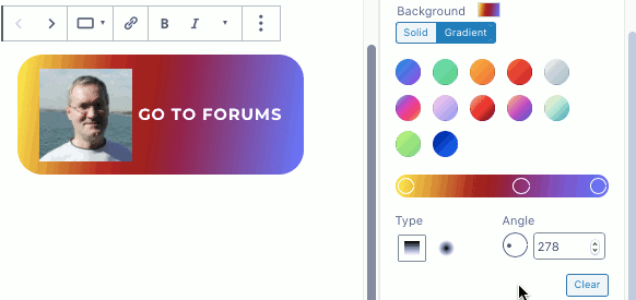 Using a gradient fill with WordPress buttons