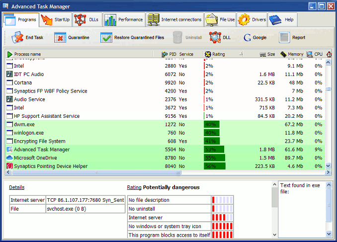 Advanced Task Manager alternative to Windows Task Manager