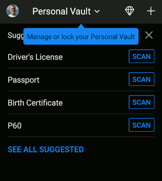 OneDrive Personal Vault in the phone app