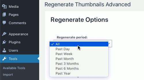 ReGenerate Thumbnails Advanced WordPress plugin