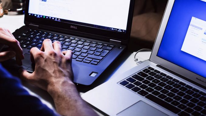 WordPress development on laptop computers