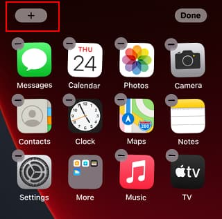 iPhone home screen showing icons wiggling