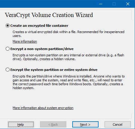 VeraCrypt open source encryption utility for Windows PC