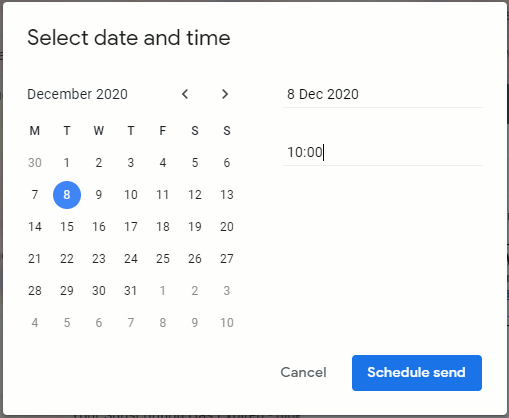 Schedule an email to send later in Gmail