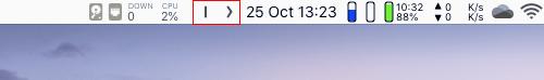 Hidden Bar menu bar add-on for Apple Mac