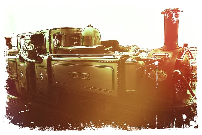 Photo of an old steam train