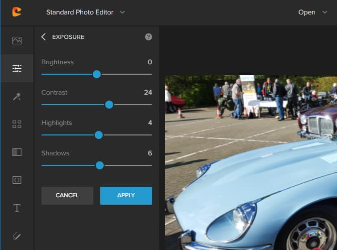 Colorcinch photo enhancement and fixing tools
