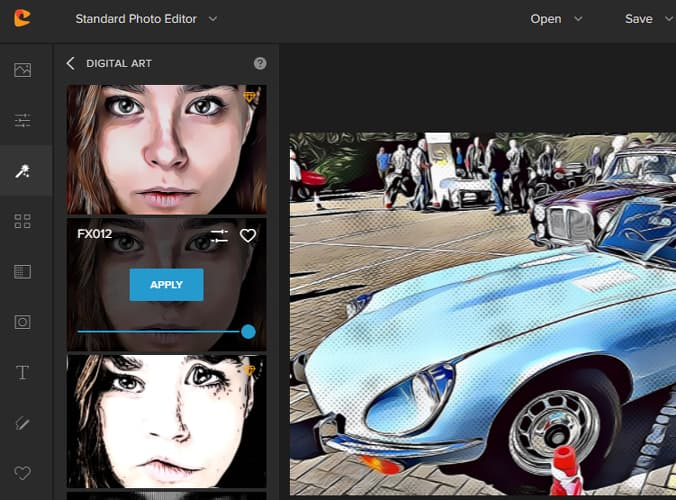 Colorcinch online photo editor effects