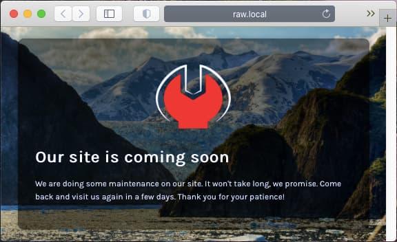 Minimal Coming Soon plugin for WordPress