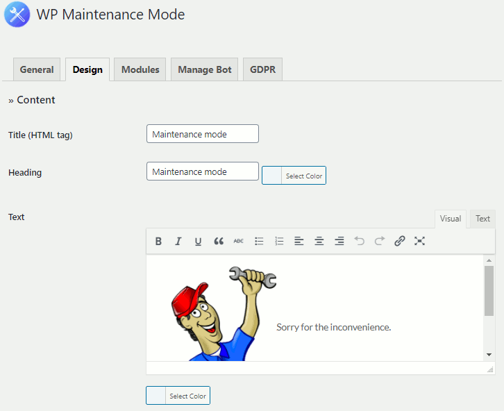 WP Maintenance Mode plugin for WordPress