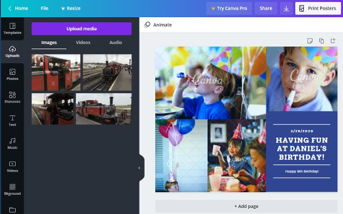Canva photo collage maker online editor