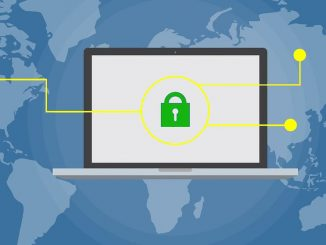 Computer and padlock: security is an important issue for websites on the internet