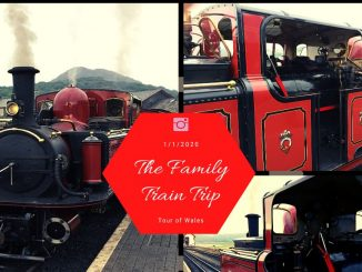 Photo collage of steam trains