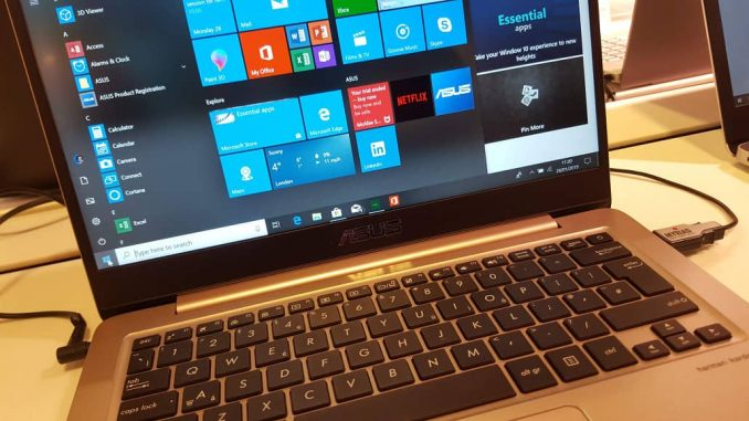 A laptop computer with Windows 10 on the screen