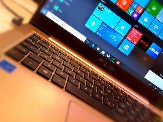 ASUS laptop computer running Windows 10