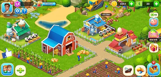 Farm city game for iOS and Android