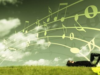Lying in a field listening to music: Use your favorite music app on the iPhone