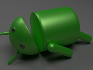 Android robot on its back
