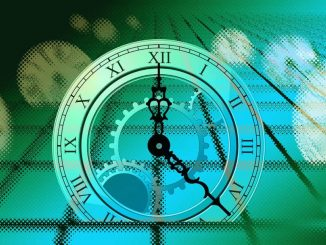 Graphic illustration of clocks and time