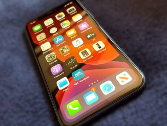 iPhone 11 showing the home screen