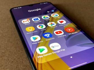 A Samsung Galaxy M31 phone