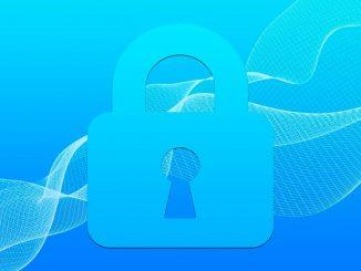 Illustration of a blue padlock