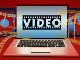 Video editing on a laptop computer